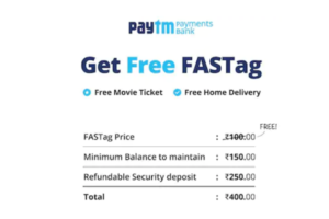 Paytm Fastag Recharge